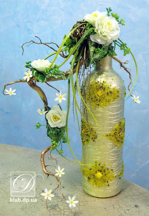 Композиции из искусственных цветов для свадьбы своими руками
