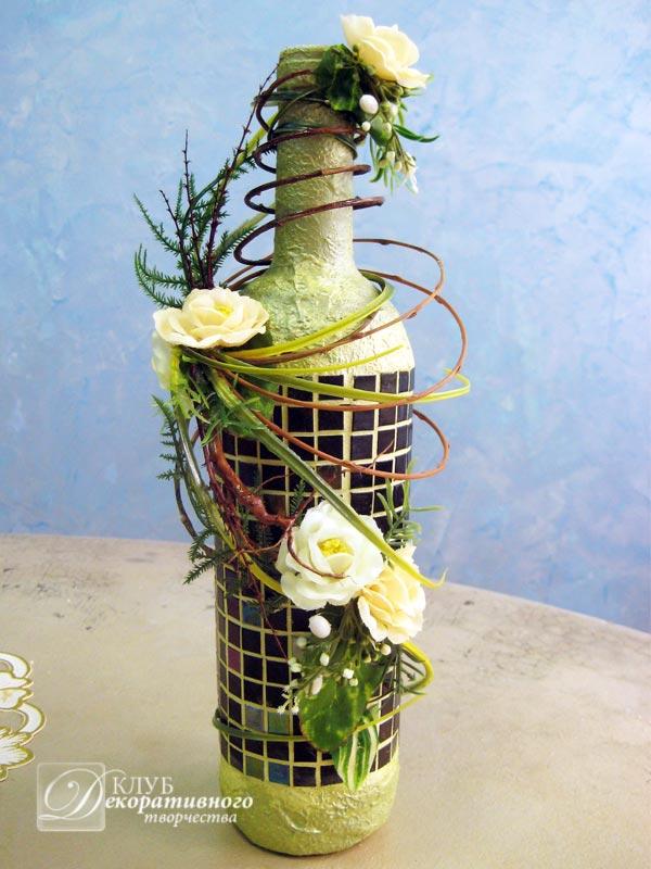 Искусственные цветы из бутылок