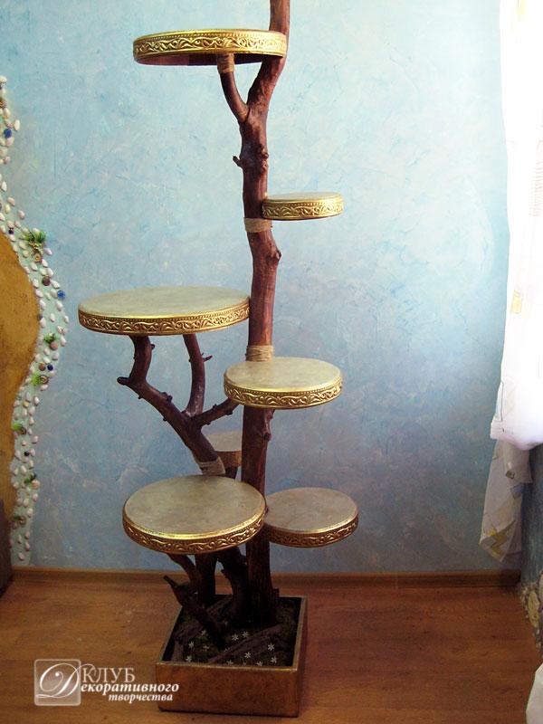 Подставки для цветов из дерева как сделать самим