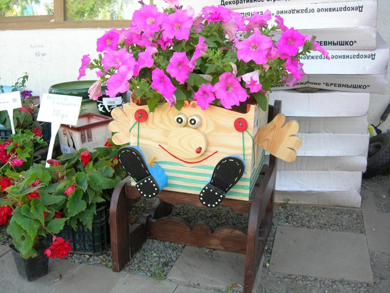 Горшки для цветов на улицу своими руками фото